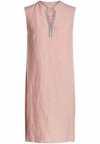 Oui - MIT KETTEN- UND STRASSAPPLIKATION - Day dress - light apricot - 0