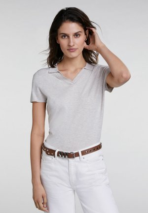 Polo shirt - offwhite melange