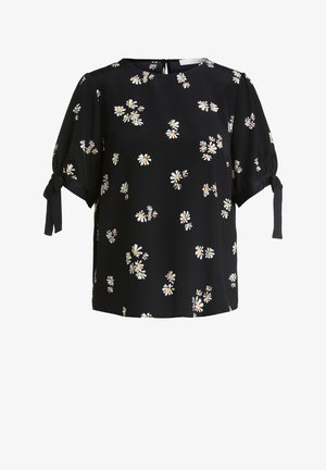 Blouse - black offwhite