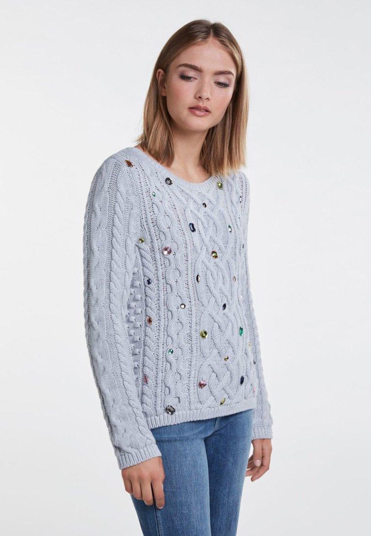 Oui - Strickpullover - light grey