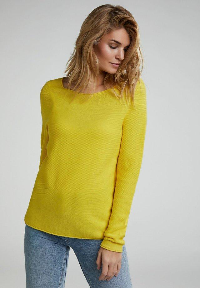 Strickpullover - vibrant yellow