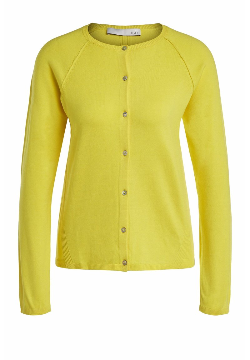 Oui - Cardigan - vibrant yellow