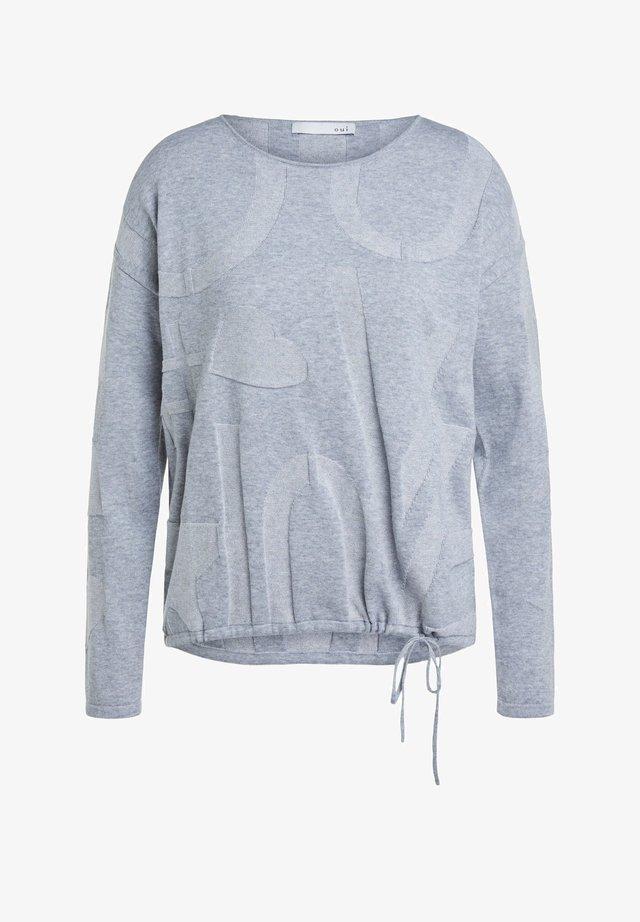 MIT ELASTISCHEM BUND - Strickpullover - grey