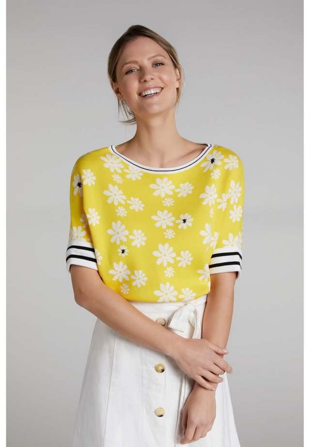 Jumper - yellow white
