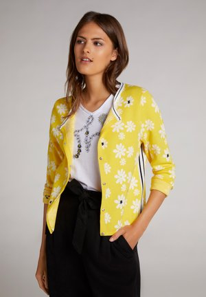 Cardigan - yellow white