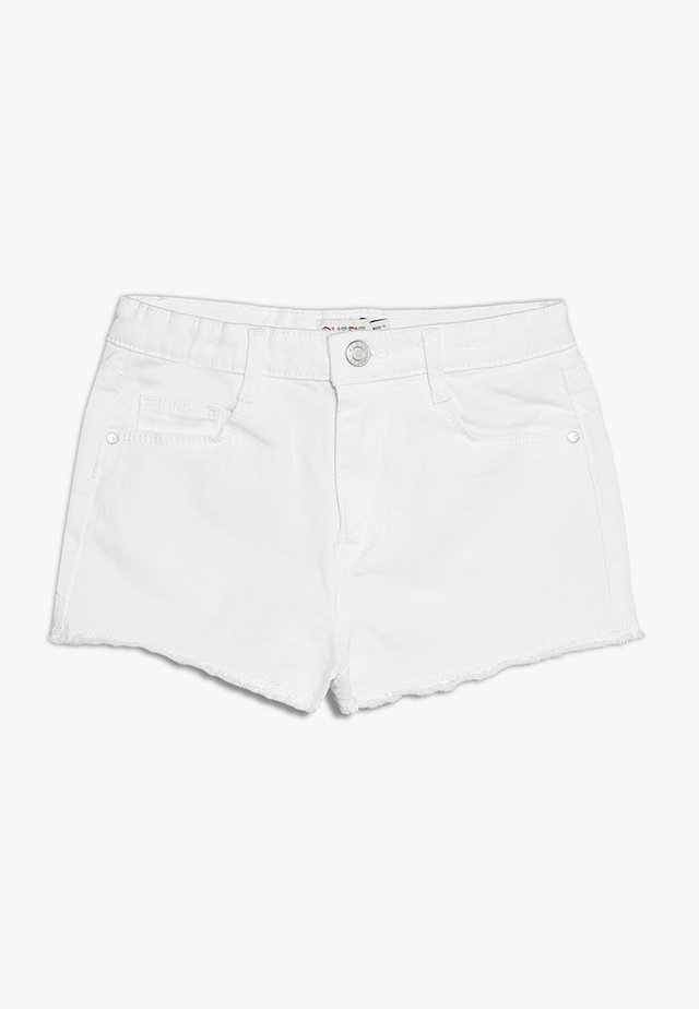 Jeansshorts - white denim