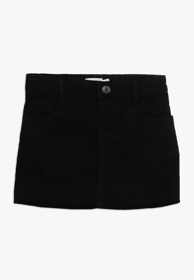 CHARCOAL SKIRT RAW HEM - Minikjol - black