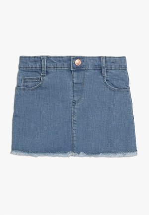 SKIRT RAW HEM - Denimová sukně - blue denim
