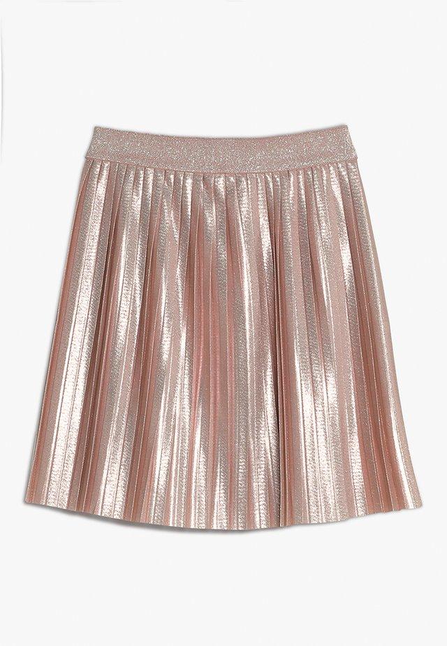 METALLIC PLEATED SKIRT - A-line skirt - pink