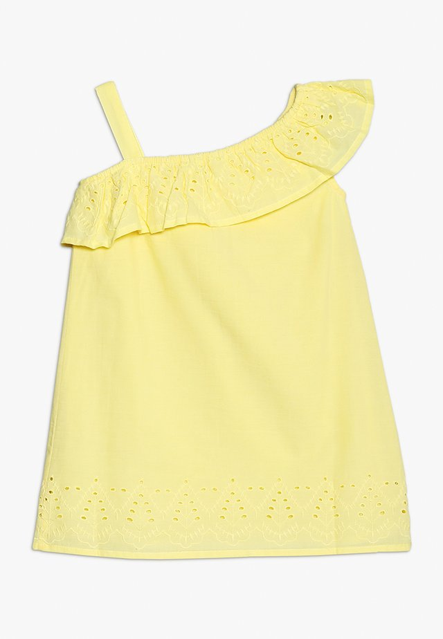 SHOULDER DRESS FRILL - Vardagsklänning - yellow