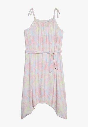 TIE DYE PRINT DRESS - Jerseyklänning - pink