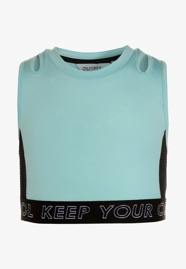 HIGH NECK CROP TOP - Topper - blue