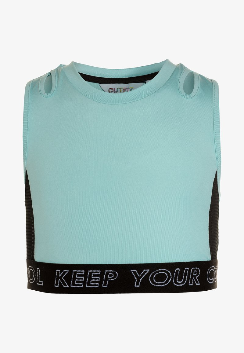 Outfit Kids - HIGH NECK CROP TOP - Top - blue