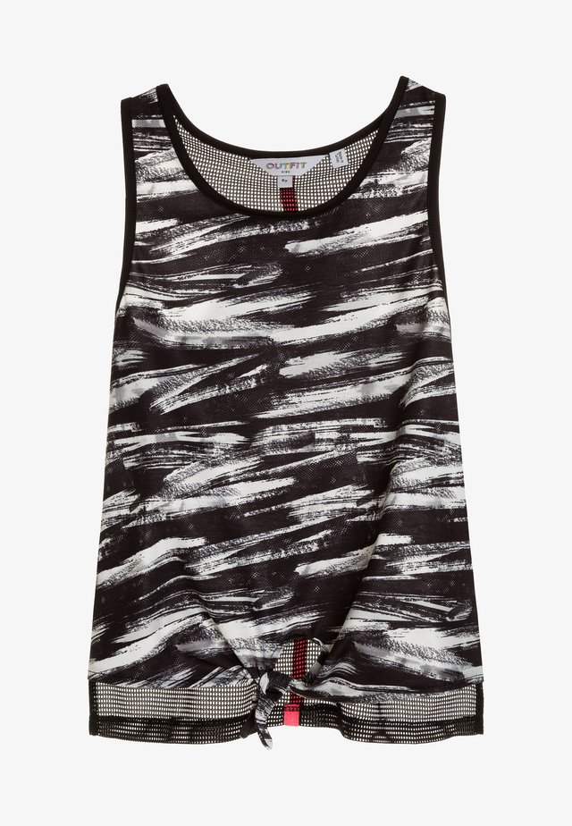 PRINTED LAYER VEST - Linne - black