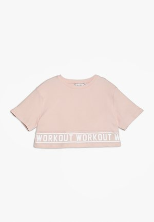 WORKOUT TEE - Print T-shirt - pink