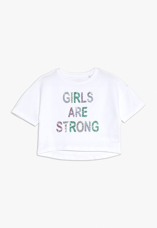 GLITTER GIRLS ARE STRONG TEE - T-shirt print - white