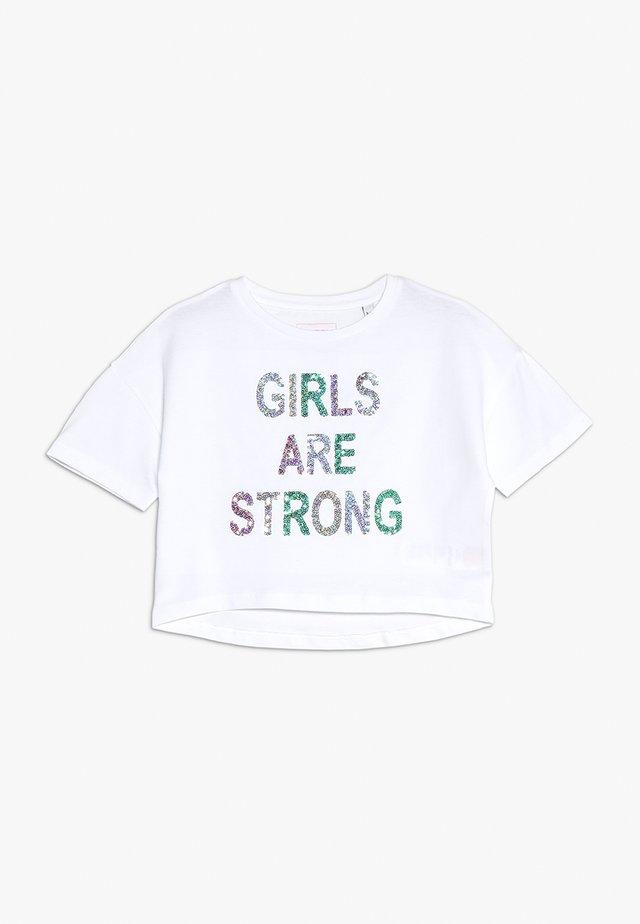 GLITTER GIRLS ARE STRONG TEE - T-shirt imprimé - white