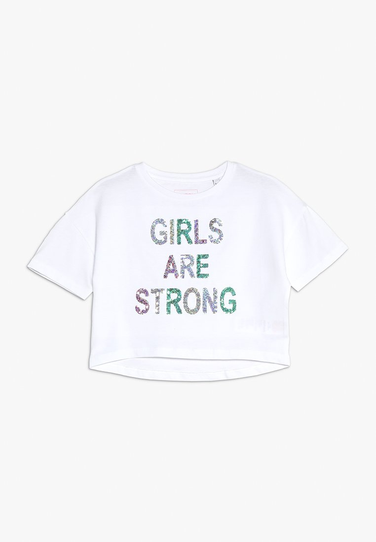 Outfit Kids - GLITTER GIRLS ARE STRONG TEE - T-shirts print - white