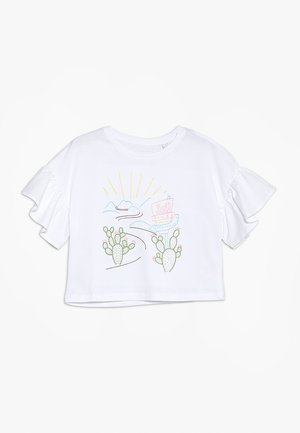 EMBROIDERED ROAD TRIP TEE - T-shirt imprimé - white