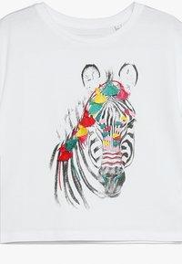 Outfit Kids - ZEBRA TEE WITH EMBROIDERY - Camiseta estampada - white - 4