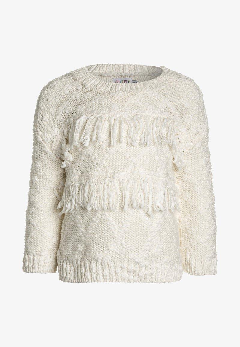 Outfit Kids - TEXTURED FRINGE JUMPER  - Jersey de punto - white
