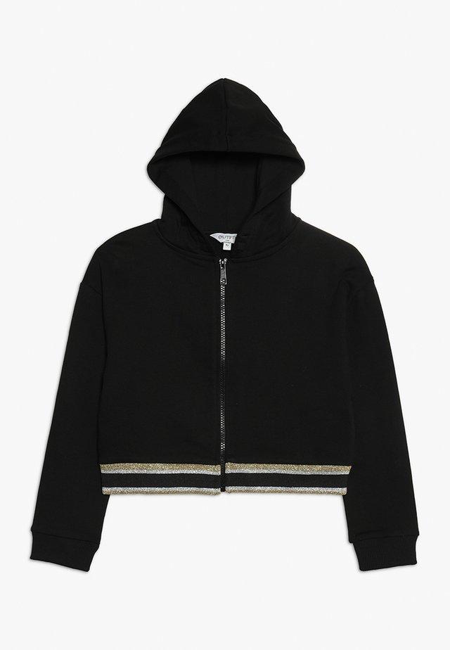 RAINBOW HOODIE BACK PRINT - veste en sweat zippée - black