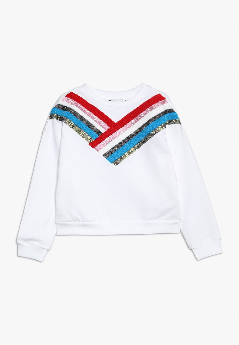 Outfit Kids - SEQUIN STRIPE CHEVRON - Sweatshirt - white