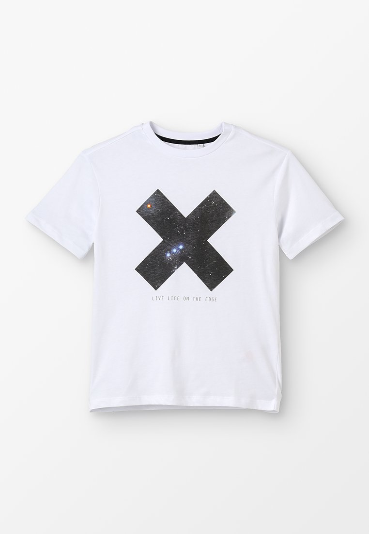 Outfit Kids - LIVE LIFE ON THE EDGE TEE - Print T-shirt - white