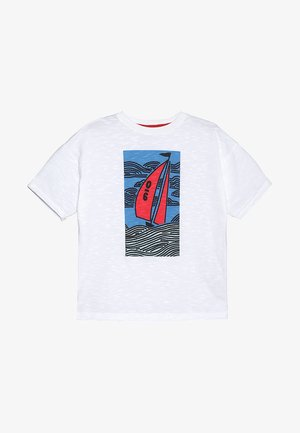 SAILING BOAT GRAPHIC TEE - Print T-shirt - white
