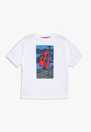 SAILING BOAT GRAPHIC TEE - T-shirt print - white