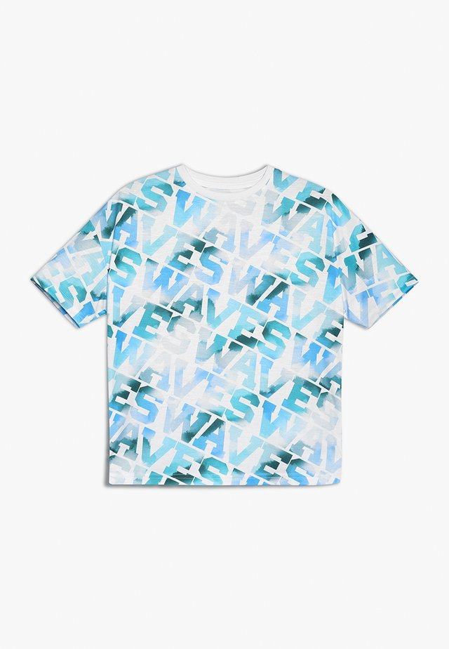 WAVES SLOGAN TEE - T-shirt med print - white