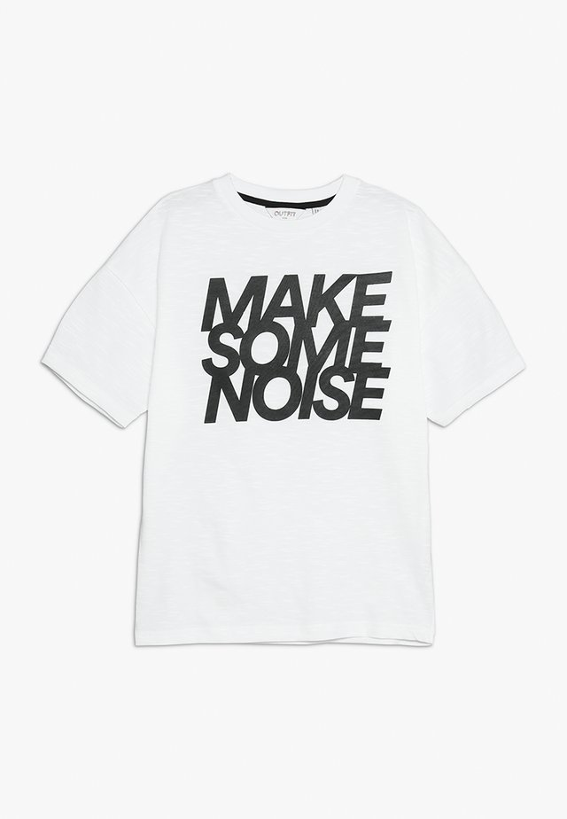 MAKE SOME NOISE TEE - T-shirts med print - white