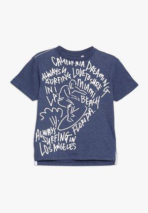 GRAFITTI SURFER TEE - Camiseta estampada - navy