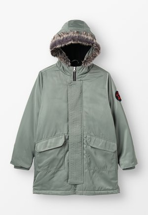 HALF LINED JACKET  - Winter coat - khaki