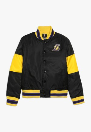 NBA LOS ANGELES LAKERS THROW BACK VARSITY JACKET - Chaqueta de entrenamiento - black/yellow