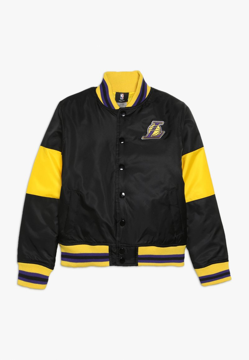 Outerstuff - NBA LOS ANGELES LAKERS THROW BACK VARSITY JACKET - Sportovní bunda - black/yellow