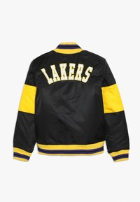 Outerstuff - NBA LOS ANGELES LAKERS THROW BACK VARSITY JACKET - Trainingsvest - black/yellow - 1