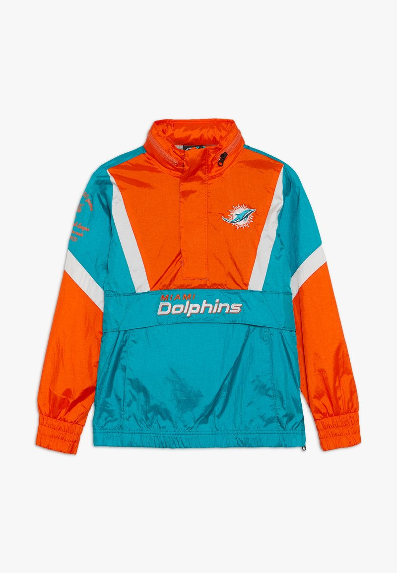 Outerstuff - NFL MIAMI DOLPHINS - Větrovka - turbogreen/brilliant orange