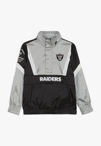 Outerstuff - NFL OAKLAND RAIDERS - Větrovka - black/field silver - 0