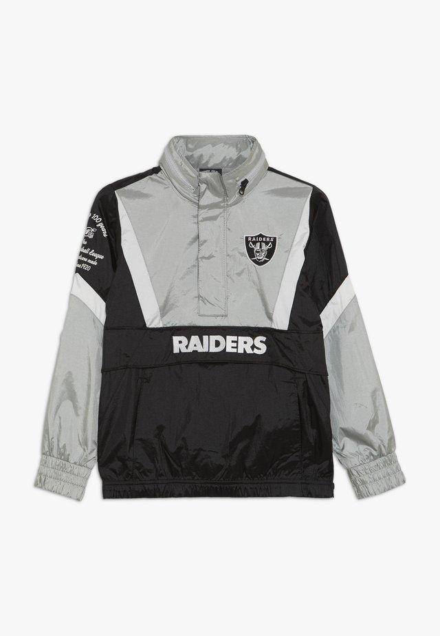 NFL OAKLAND RAIDERS - Vindjacka - black/field silver