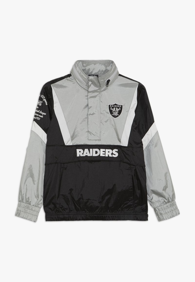 Outerstuff - NFL OAKLAND RAIDERS - Větrovka - black/field silver