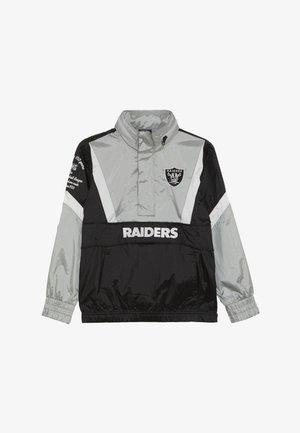 NFL OAKLAND RAIDERS - Wiatrówka - black/field silver
