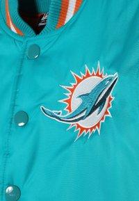 Outerstuff - NFL MIAMI DOLPHINS VARSITY JACKET - Fanartikel - turbogreen/brilliant orange - 4