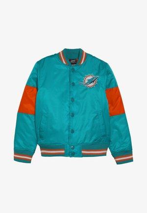 NFL MIAMI DOLPHINS VARSITY JACKET - Klubové oblečení - turbogreen/brilliant orange