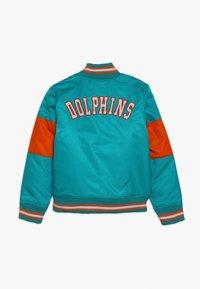 Outerstuff - NFL MIAMI DOLPHINS VARSITY JACKET - Fanartikel - turbogreen/brilliant orange - 1