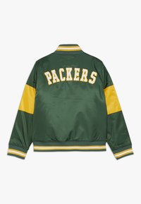 Outerstuff - NFL GREEN BAY PACKERS VARSITY JACKET - Sportovní bunda - fir/university gold - 1