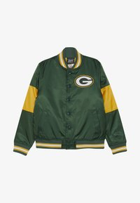 Outerstuff - NFL GREEN BAY PACKERS VARSITY JACKET - Sportovní bunda - fir/university gold - 3