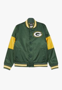 Outerstuff - NFL GREEN BAY PACKERS VARSITY JACKET - Sportovní bunda - fir/university gold - 0