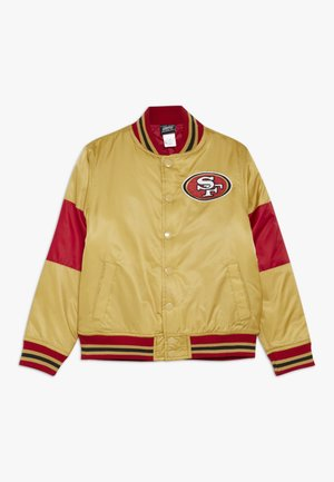 NFL SAN FRANCISO 49ERS VARSITY JACKET - Verryttelytakki - gym red/club gold