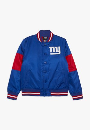 NFL NEW YORK GIANTS VARSITY JACKET - Fanartikel - rush blue/gym red